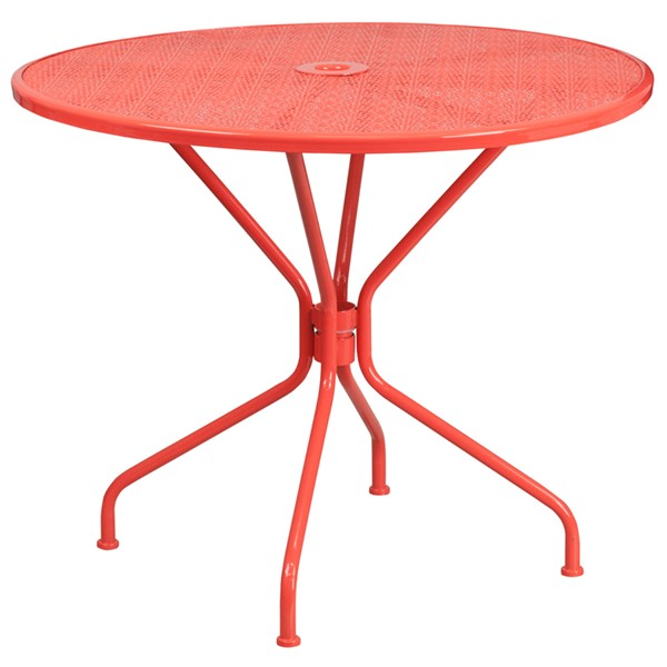 Flash Furniture Coral Round Patio Table FLF-CO-7-RED-GG