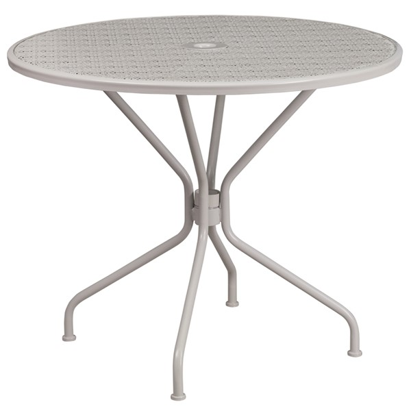 Flash Furniture Light Gray Round Patio Table FLF-CO-7-SIL-GG