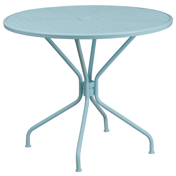 Flash Furniture Sky Blue Round Patio Table FLF-CO-7-SKY-GG