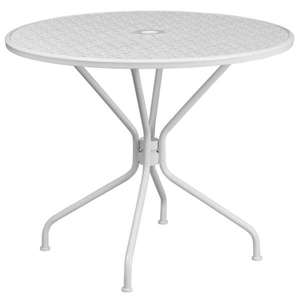 Flash Furniture White Round Patio Table FLF-CO-7-WH-GG