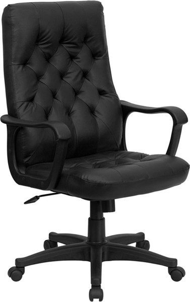 High Back Traditional Black Leather Executive Swivel Office Chair FLF-CP-A136A01-GG