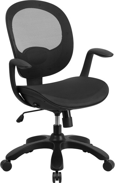 Mid-Back Mesh Swivel Task Chair with Seat Slider & Ratchet Back FLF-CS-YAPI-GG-OFF-CH-VAR