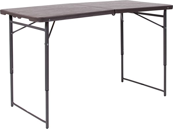 Flash Furniture Brown Plastic Table FLF-DAD-LF-122Z-GG