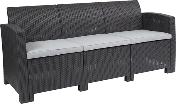 Flash Furniture Rattan Outdoor Sofas FLF-DAD-SF2-3-GG-OUT-SF-VAR