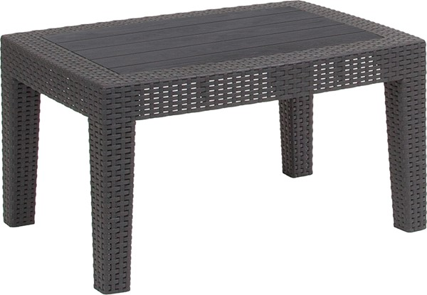 Flash Furniture Rattan Coffee Tables FLF-DAD-SF2-T-GG-OUT-CT-VAR