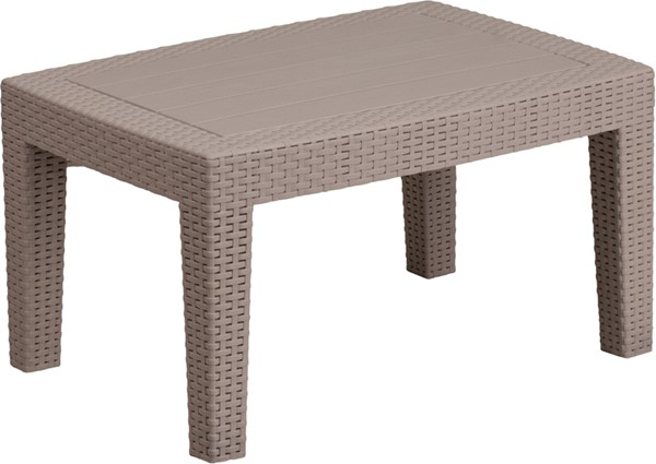 Flash Furniture Light Gray Rattan Coffee Table FLF-DAD-SF2-T-GG