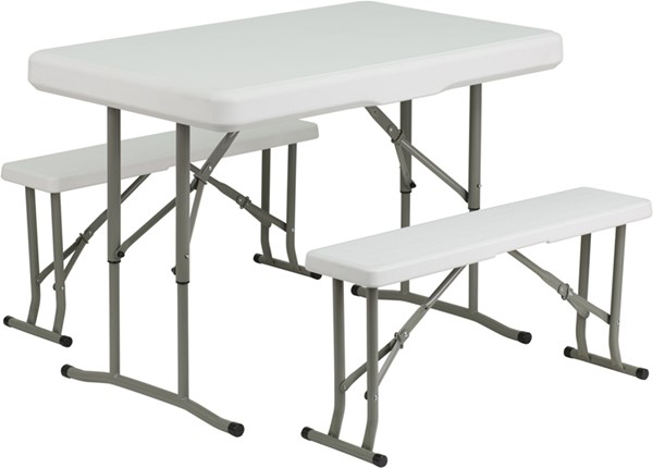 Plastic Folding Table and Benches FLF-DAD-YCZ-103-GG