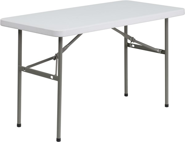 Flash Furniture Granite White Plastic Folding Table FLF-DAD-YCZ-122-2-GG