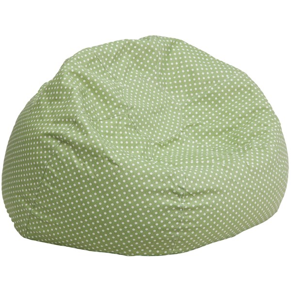 Flash Furniture Oversized Green Dot Bean Bag Chair FLF-DG-BEAN-LARGE-DOT-GRN-GG