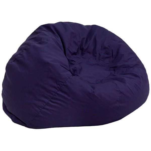 Flash Furniture Oversized Solid Navy Blue Bean Bag Chair FLF-DG-BEAN-LARGE-SOLID-BL-GG