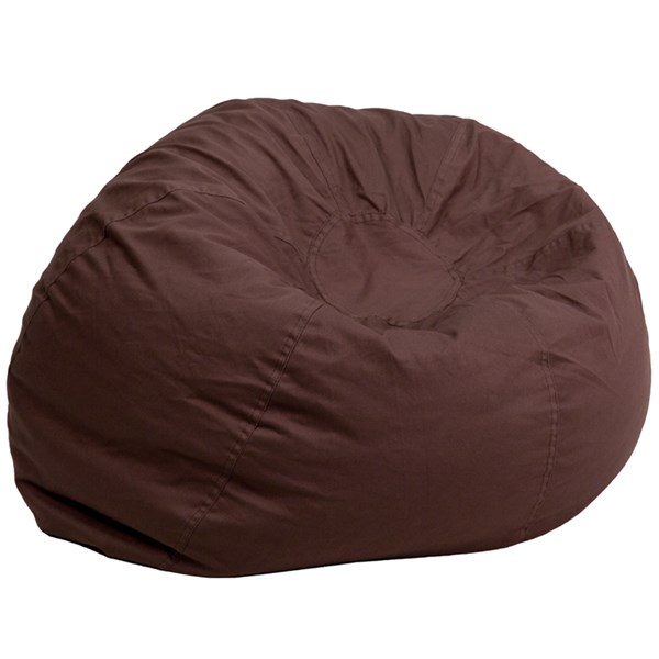 Oversized Solid Brown Bean Bag Chair FLF-DG-BEAN-LARGE-SOLID-BRN-GG
