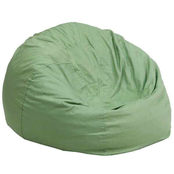 Oversized Solid Green Bean Bag Chair FLF-DG-BEAN-LARGE-SOLID-GRN-GG