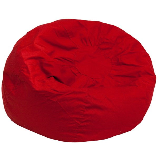 Oversized Solid Red Bean Bag Chair FLF-DG-BEAN-LARGE-SOLID-RED-GG