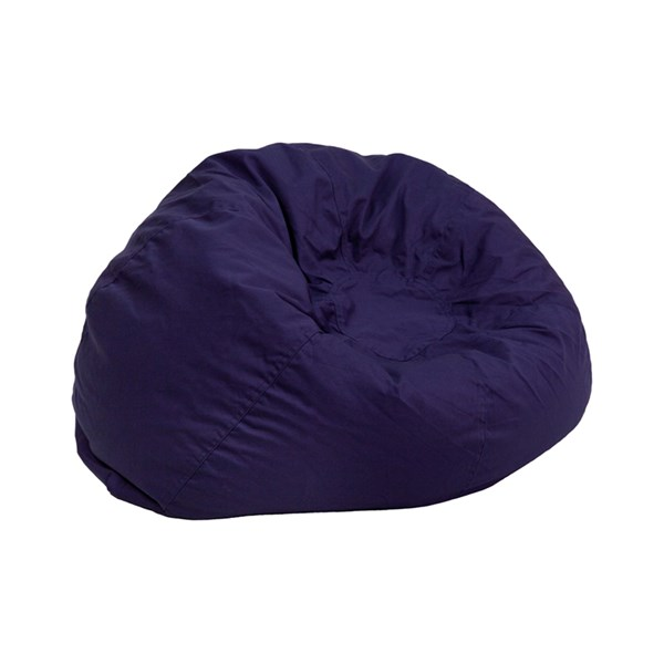 Small Solid Navy Blue Kids Bean Bag Chair FLF-DG-BEAN-SMALL-SOLID-BL-GG