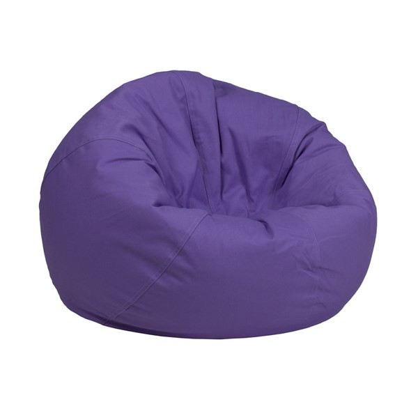 Flash Furniture Purple Fabric Bean Bag Chair FLF-DG-BEAN-SMALL-SOLID-PUR-GG