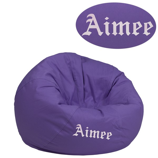 Flash Furniture Purple Fabric TXT Bean Bag Chair FLF-DGBEANSML-SLDPURTXTGG
