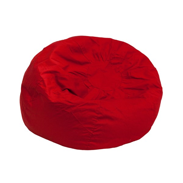 Small Solid Red Kids Bean Bag Chair FLF-DG-BEAN-SMALL-SOLID-RED-GG