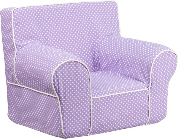Small Dot Kids Chair with White Piping FLF-DG-CH-KID-DOT-GG-KCH-VAR