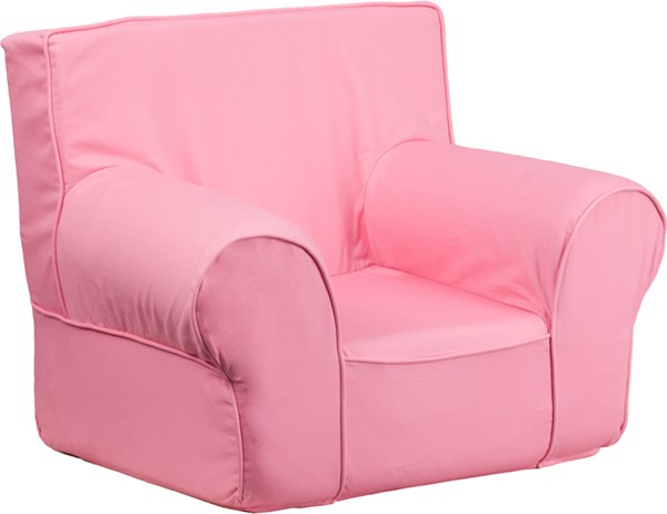 Small Solid Light Pink Kids Chair FLF-DG-CH-KID-SOLID-PK-GG