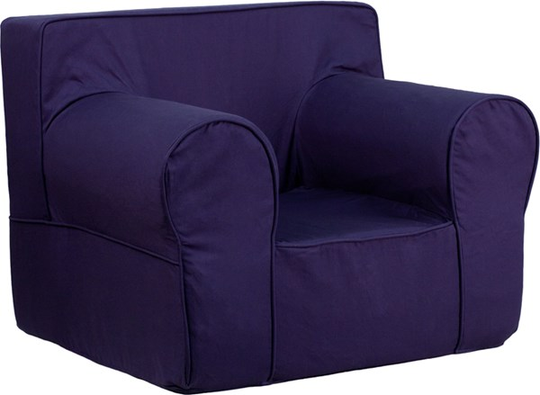 Oversized Solid Navy Blue Kids Chair FLF-DG-LGE-CH-KID-SOLID-BL-GG
