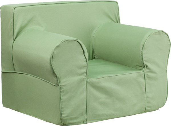 Oversized Solid Green Kids Chair FLF-DG-LGE-CH-KID-SOLID-GRN-GG