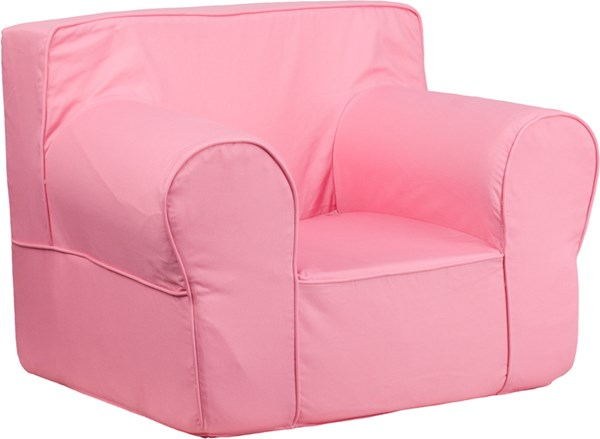 Oversized Solid Light Pink Kids Chair FLF-DG-LGE-CH-KID-SOLID-PK-GG