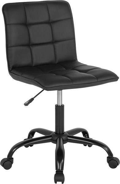 Flash Furniture Sorrento Black Leather Task Chair FLF-DS-512C-BLK-GG