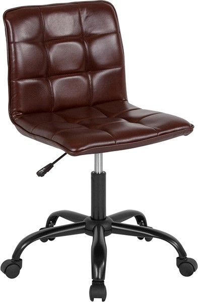 Flash Furniture Sorrento Brown Leather Task Chair FLF-DS-512C-BRN-GG