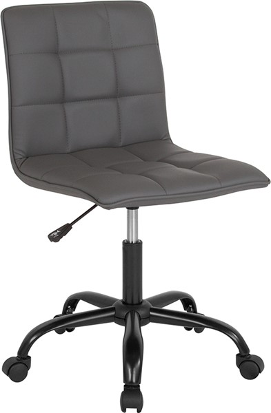 Flash Furniture Sorrento Gray Leather Task Chair FLF-DS-512C-GRY-GG