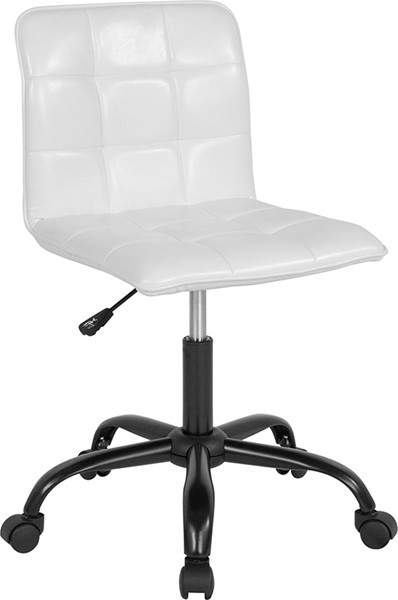 Flash Furniture Sorrento White Leather Task Chair FLF-DS-512C-WH-GG