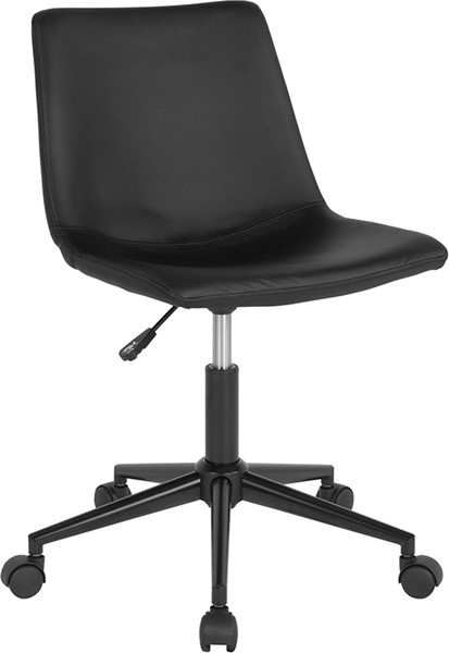 Flash Furniture Siena Black Leather Task Chair FLF-DS-530A-BLK-GG