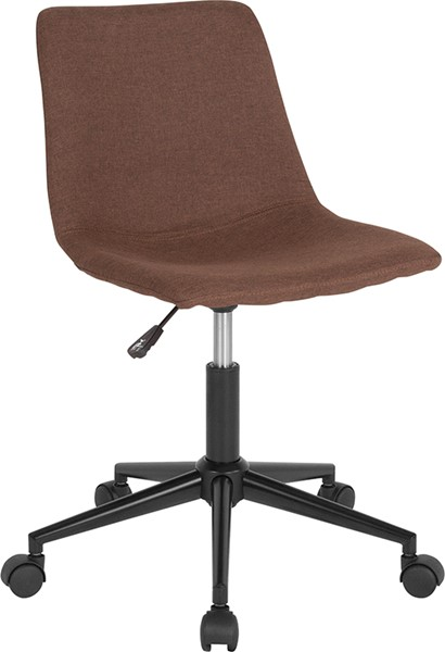 Flash Furniture Siena Brown Fabric Task Chair FLF-DS-530A-BRN-F-GG