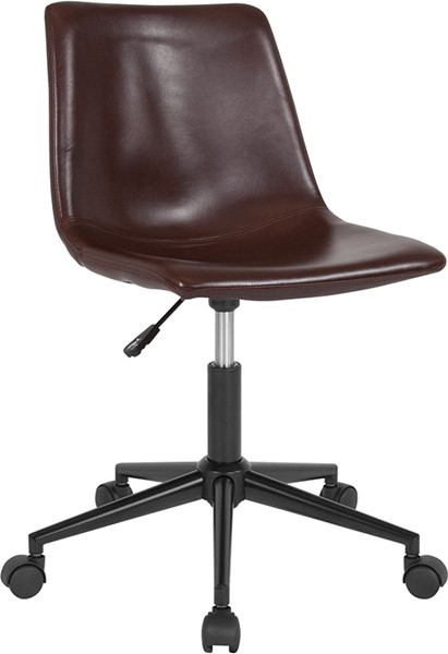 Flash Furniture Siena Brown Leather Task Chair FLF-DS-530A-BRN-GG