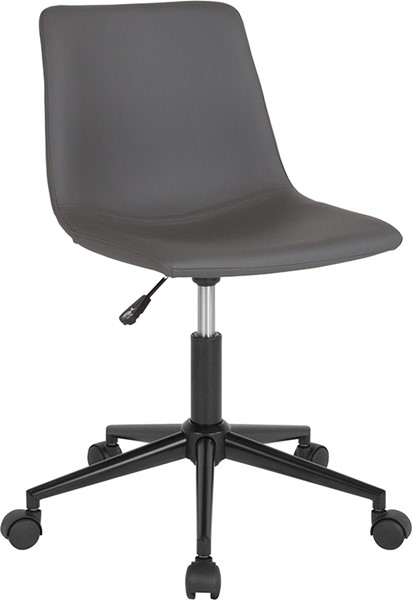 Flash Furniture Siena Gray Leather Task Chair FLF-DS-530A-GRY-GG