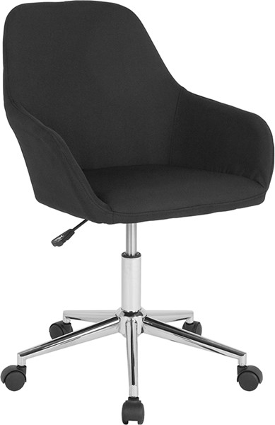 Flash Furniture Cortana Black Fabric Mid Back Chair FLF-DS-8012LB-BLK-F-GG