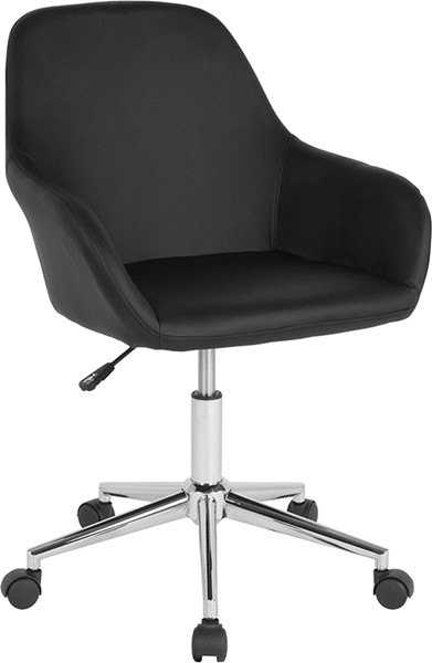 Flash Furniture Cortana Black Leather Mid Back Chair FLF-DS-8012LB-BLK-GG