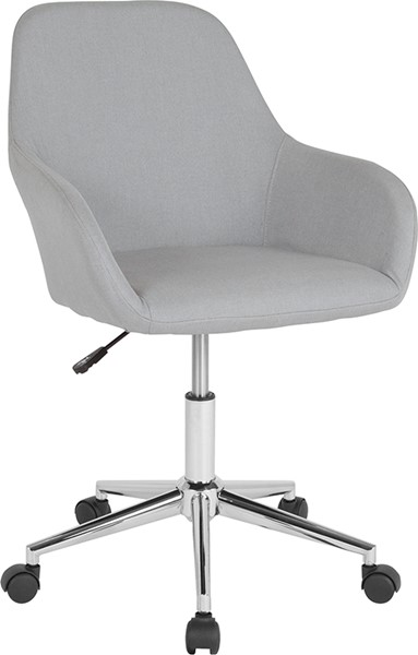 Flash Furniture Cortana Light Gray Fabric Mid Back Chair FLF-DS-8012LB-LTG-F-GG
