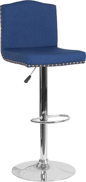 Flash Furniture Bellagio Blue Fabric Barstool FLF-DS-8111-BLU-F-GG