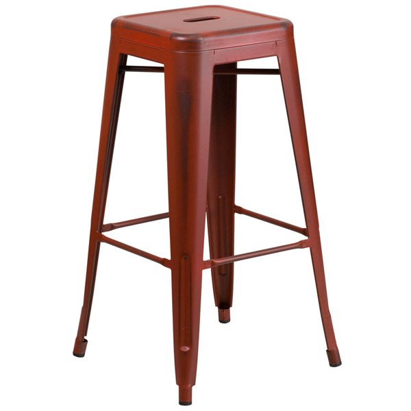 Flash Furniture 30 Inch Kelly Red Metal Indoor Outdoor Barstool FLF-ET-BT3503-30-RD-GG