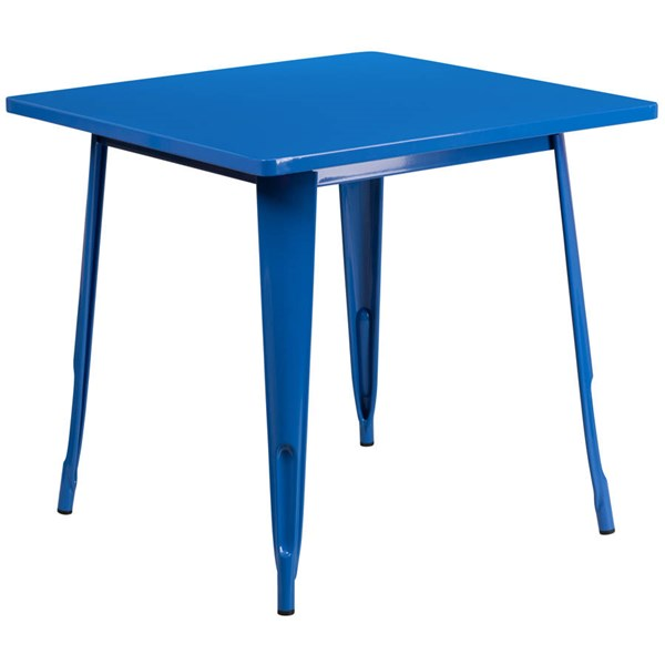 Flash Furniture Square Blue Metal Indoor Outdoor Table FLF-ET-CT002-1-BL-GG