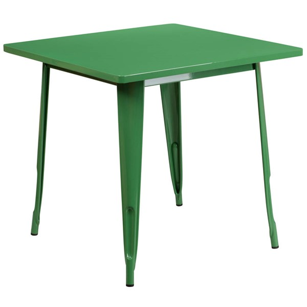 Flash Furniture Square Green Metal Indoor Outdoor Table FLF-ET-CT002-1-GN-GG