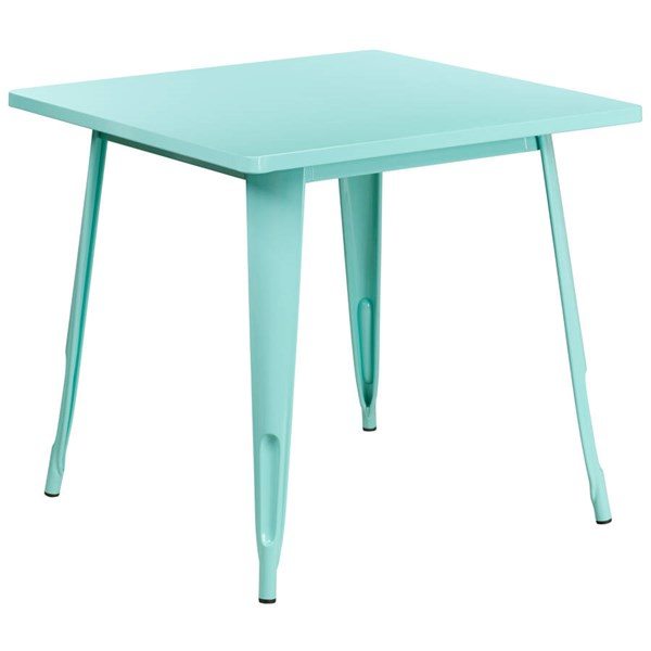 Flash Furniture Square Mint Green Metal Indoor Outdoor Table FLF-ET-CT002-1-MINT-GG