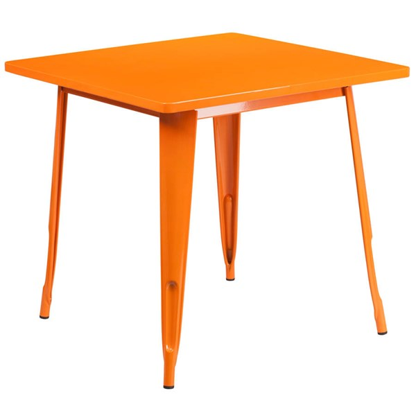 Flash Furniture Square Orange Metal Indoor Outdoor Table FLF-ET-CT002-1-OR-GG