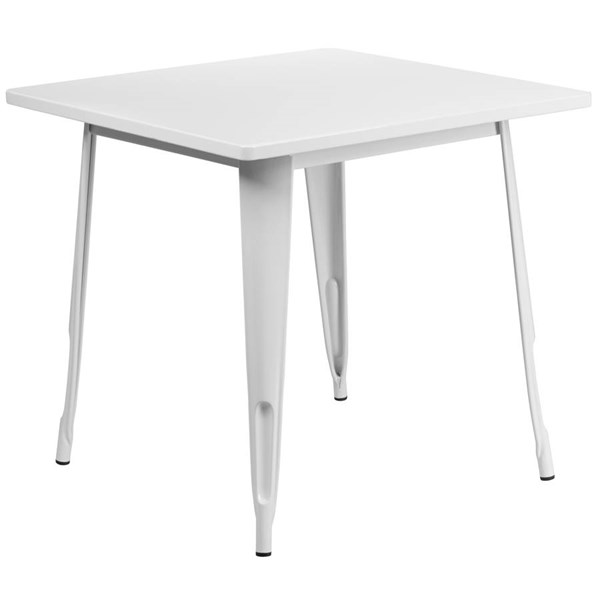 Flash Furniture Square White Metal Indoor Outdoor Table FLF-ET-CT002-1-WH-GG