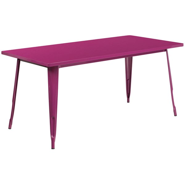 Flash Furniture Purple Metal Rectangular Indoor Outdoor Table FLF-ET-CT005-PUR-GG
