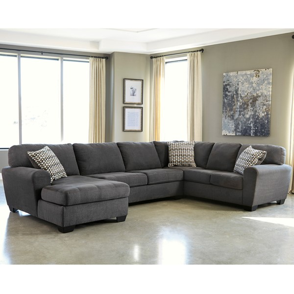 Flash Furniture Sorenton Slate RAF U Shape Sectional FLF-FBC-2869SEC-3RAFS-SLA-GG