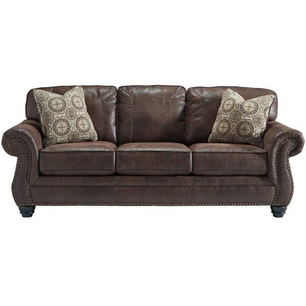 Flash Furniture Breville Espresso Leather Sofa FLF-FBC-8009SO-ESP-GG