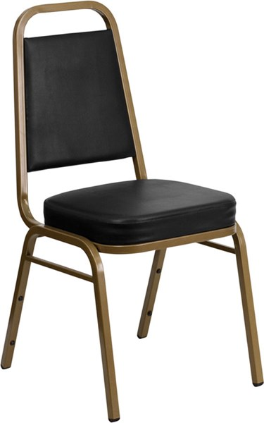 Flash Furniture Hercules Vinyl Trapezoidal Back Stacking Banquet Chairs FLF-FD-BHF-1-ALLGOLD-BK-BN-VAR