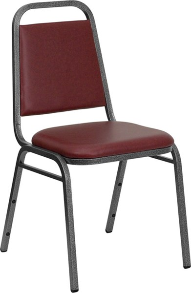 Hercules Burgundy Silver Vein Fabric Metal Plastic Vinyl Chair FLF-FD-BHF-2-BY-VYL-GG