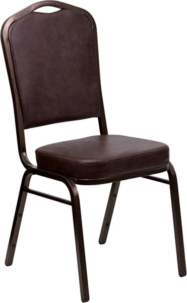 Flash Furniture Hercules Brown Crown Back Stacking Banquet Chair FLF-FD-C01-COPPER-BRN-VY-GG